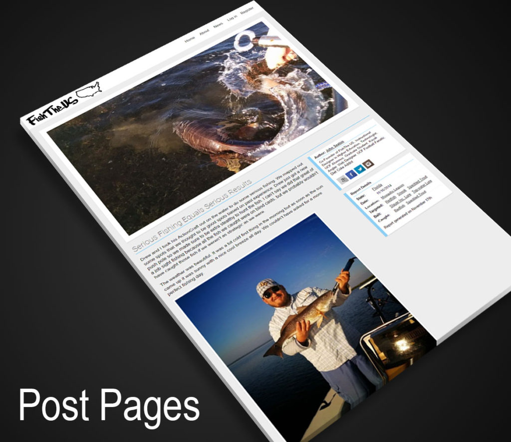 Screenshot of the FishThe.US Post Pages